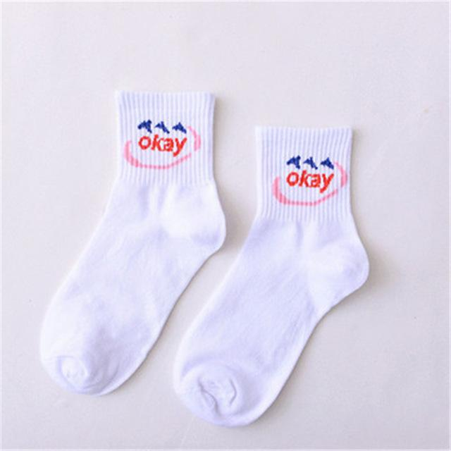Summer Short Cotton Socks - Aesthetic Outfits