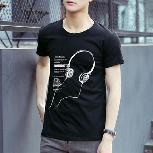 Summer Short Sleeve Men T-Shirt - Aesthetic Outfits