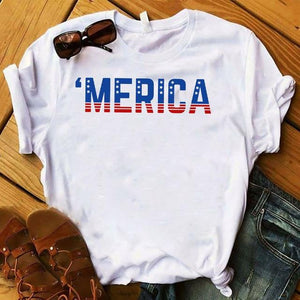 Super Cool USA Flag T-Shirts - Aesthetic Outfits