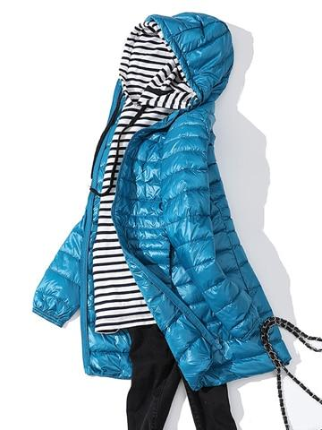 Woman Padded Hooded Long Jacket - Aesthetic Outfits