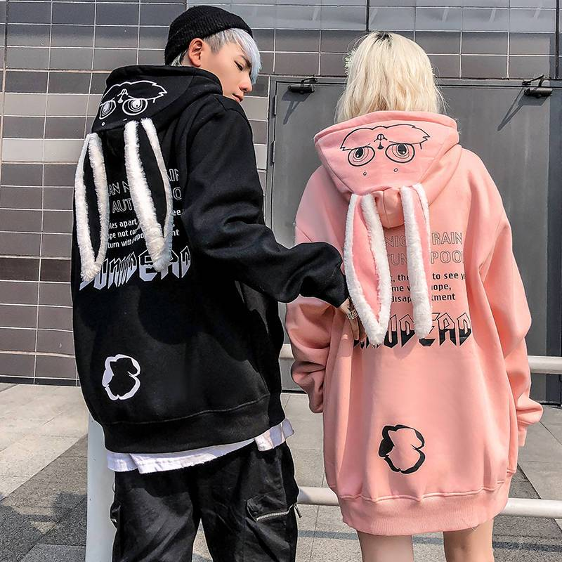 Cute Bunny Couple Hoodie - Aesthetic Outfits