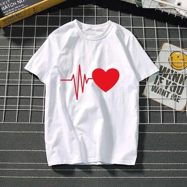 Heart Ulzzang Graphic T-Shirts - Aesthetic Outfits