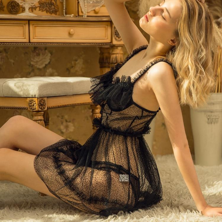 Black Sexy Lingerie - Sexy Sleepwear - Sex Clothes - Aesthetic Outfits