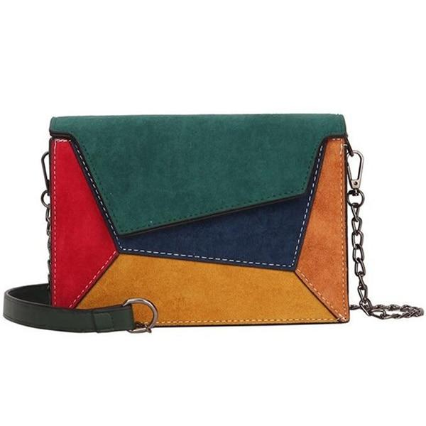 Retro Matte Patchwork Crossbody Bags for Women - Aesthetic Outfits