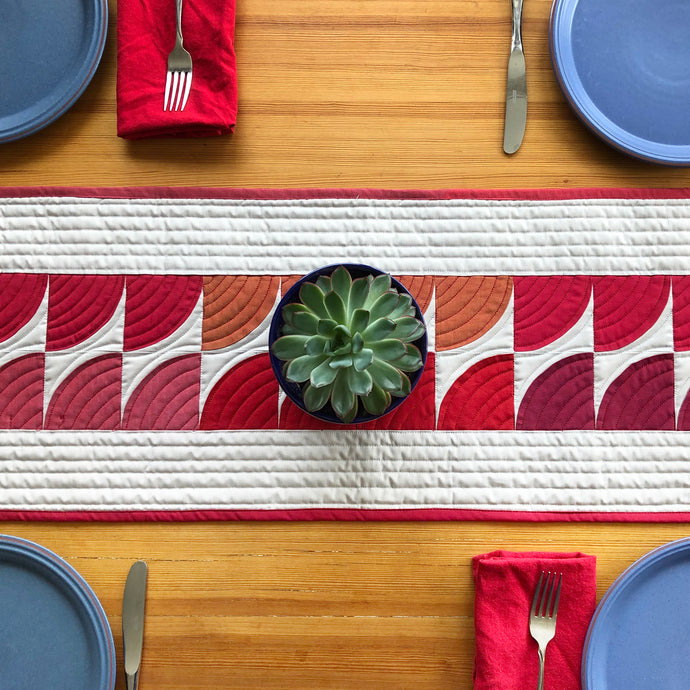 Quarter Circle Table Runner