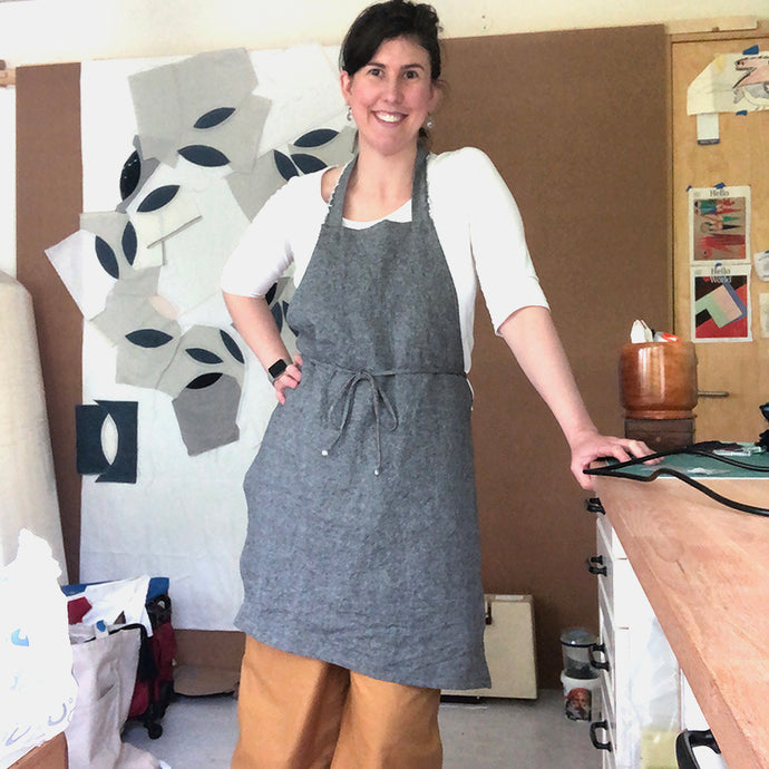 Hand Sewn Apron (no sewing machine used)