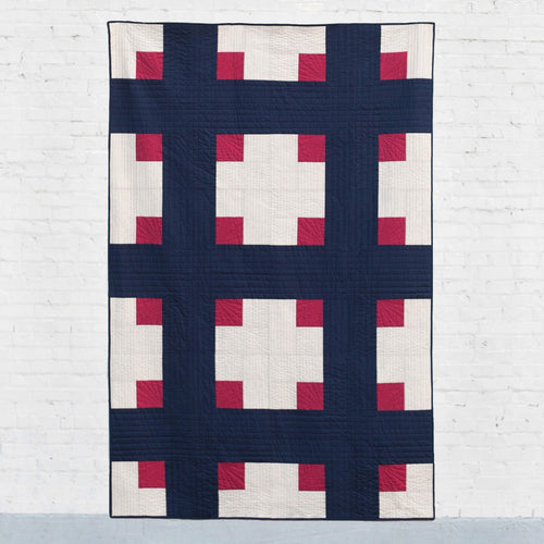 Cross Cabins Quilt Pattern