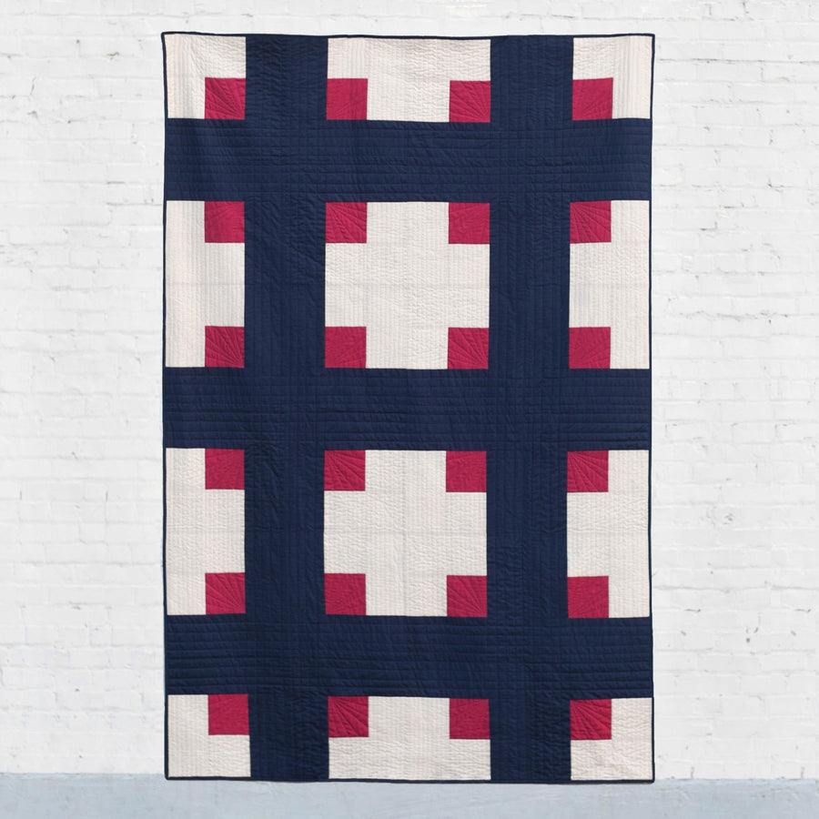 Cross Cabins Quilt Pattern (PDF)
