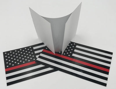 Reflective Thin Red Line American Flag Stickers