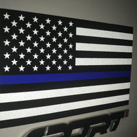 Reflective Thin Blue Line American Flag Stickers