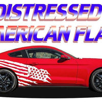 Mustang Distressed American Flag - Fits Any Year