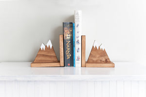 Mountain Nursery Decor Bookends