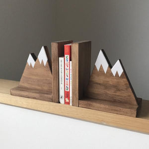 Rustic Mountain Bookends