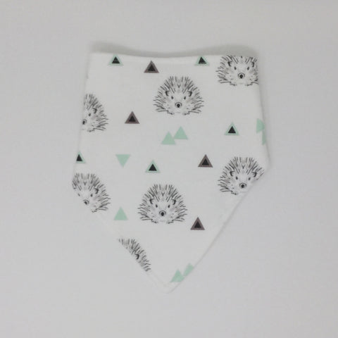 Hedgehog Mint Bandana Bib