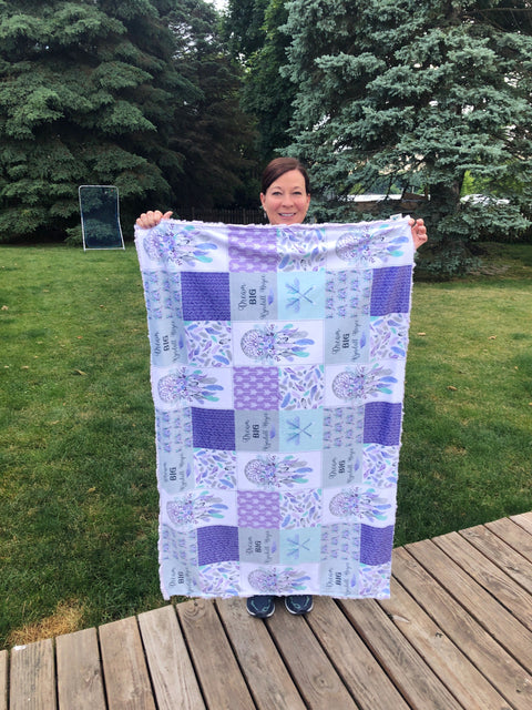 Personalized/Toddler Blanket Minky Dimple Dot