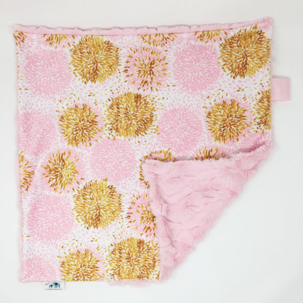 Pink and Gold Pom Pom Lovey Blanket Sale Item