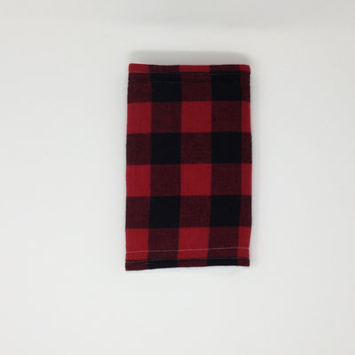 Black and Red Buffalo Plaid Burp Cloth