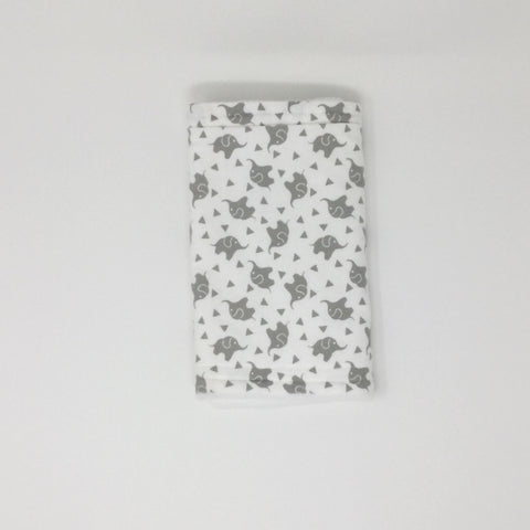 Elephant Gray Burp Cloth
