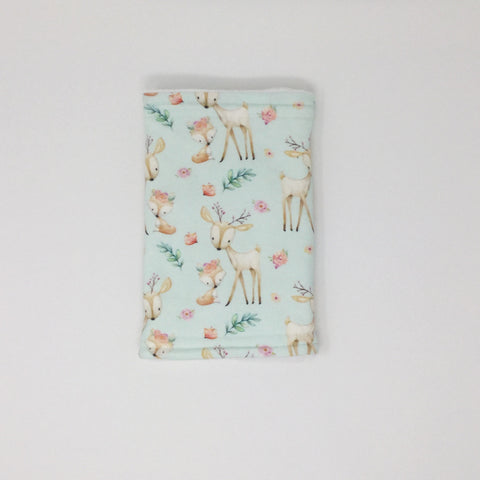 Baby Deer and Fox Burp Cloth