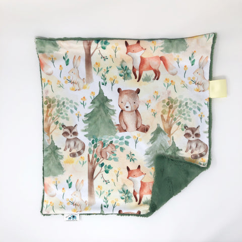 Forest Friends Lovey Blanket