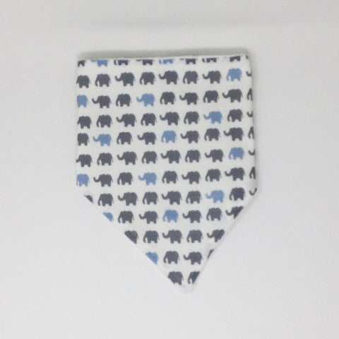 Elephant Blue and Gray Bandana Bib