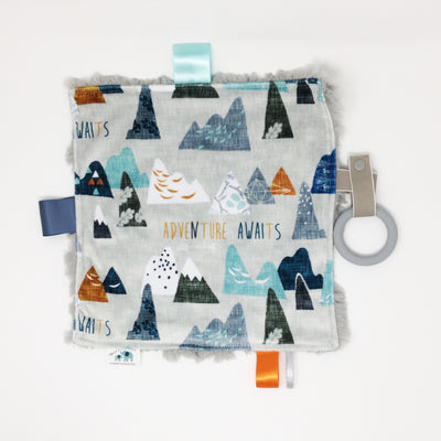 Adventure Awaits Luxe Teething Blanket