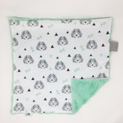 Hedgehog Mint Lovey Blanket