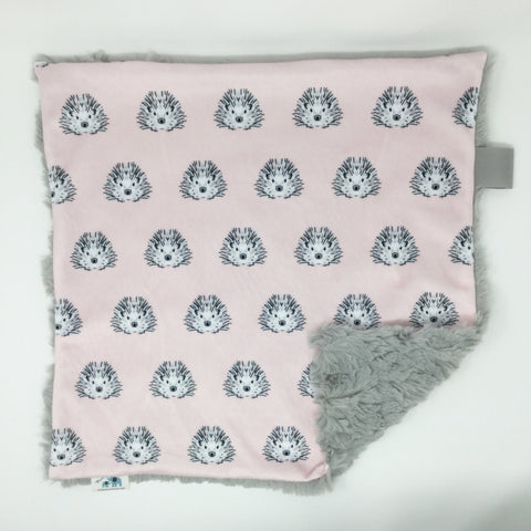 Hedgehog Pink Lovey Blanket