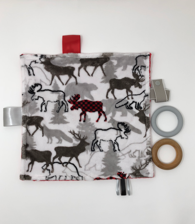 Moose Teething Blanket