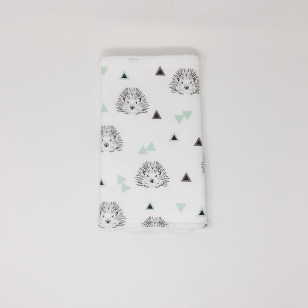 Hedgehog Mint Burp Cloth