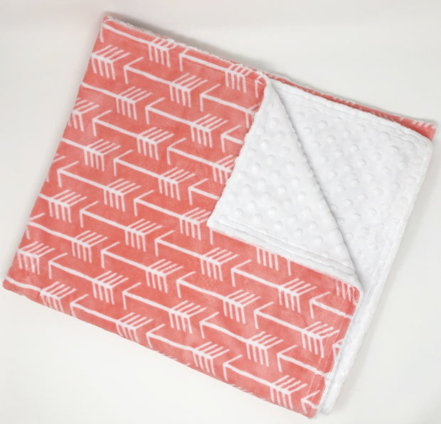 Coral Arrow Minky Blanket Sale Item