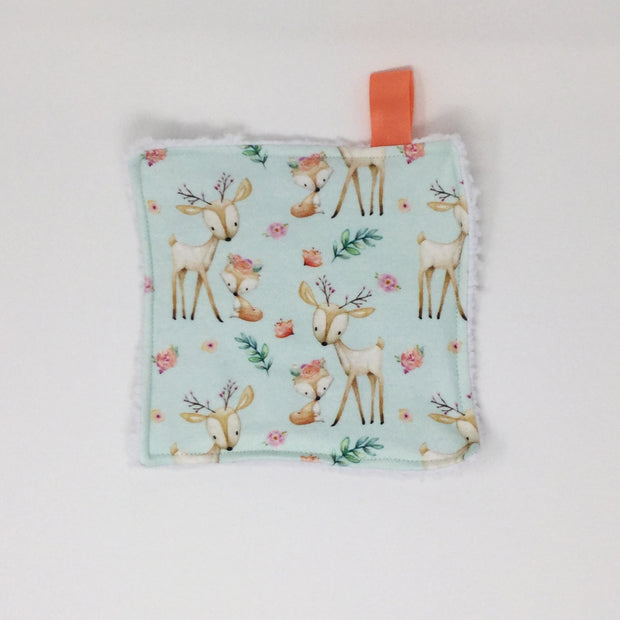 Baby Deer and Fox Washcloth
