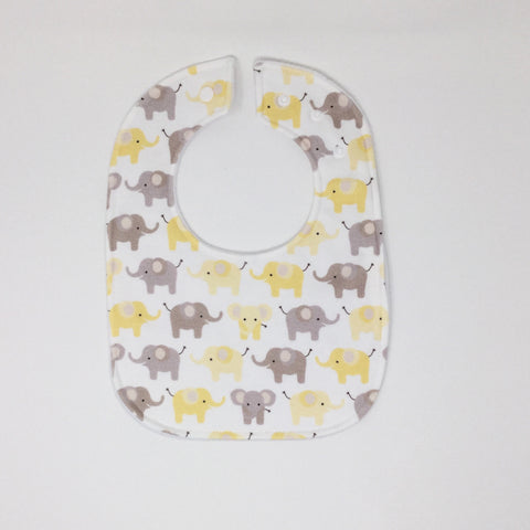 Elephant Yellow Traditional Bib