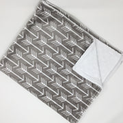 Gray Arrow Minky Blanket
