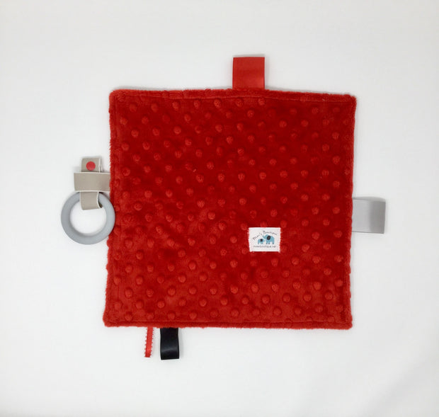 Fire Truck Teething Blanket