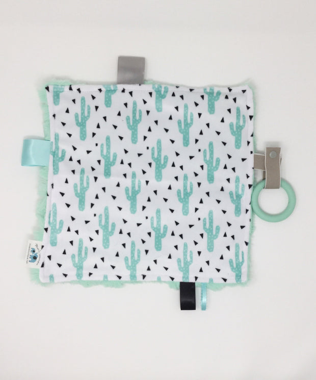 Cactus Luxe Teething Blanket