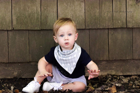 Gray Arrow Bandana Bib