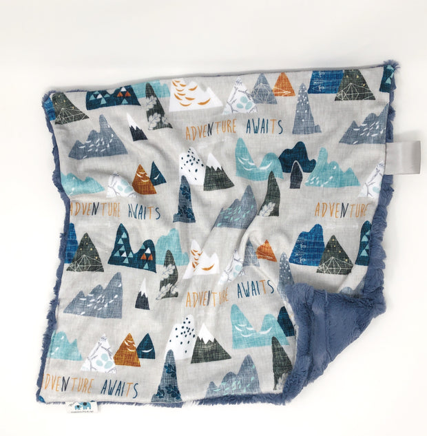 Adventure Awaits Lovey Blanket
