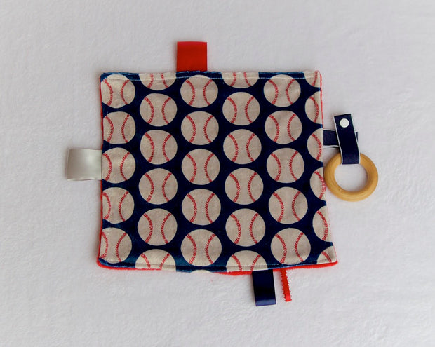 Baseball Teething Blanket