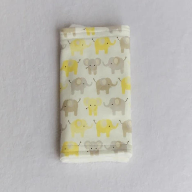 Elephant Yellow and Gray Burp Cloth
