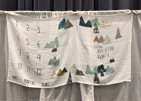 Adventure Awaits Milestone Blanket
