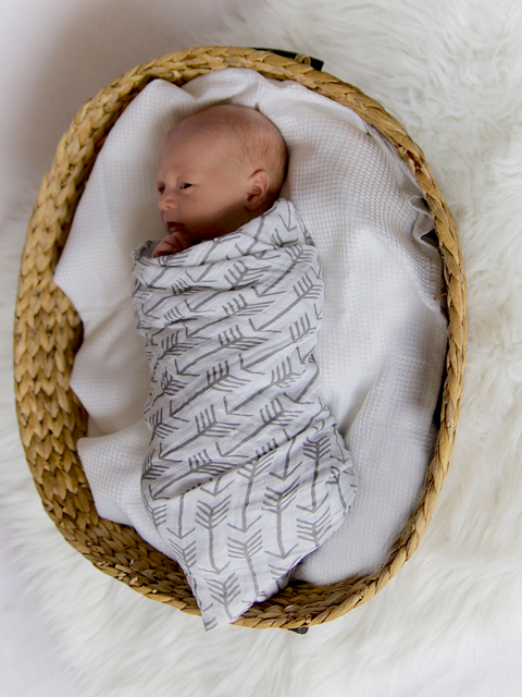 Gray Arrow Swaddle