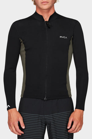 Front Zip Neoprene - Pirate Black