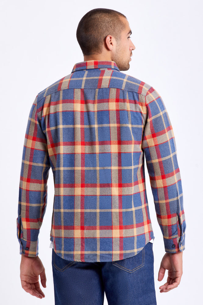 Bowery L/S Flannel - Blue/Red