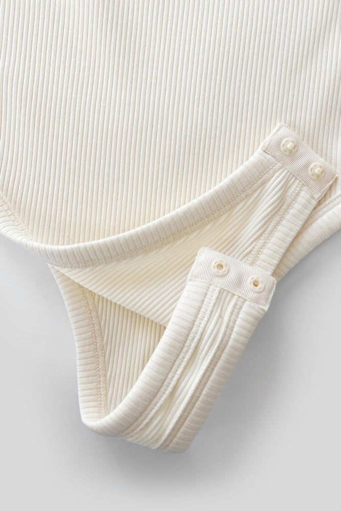 Ribbed Bodysuit - French Vanilla