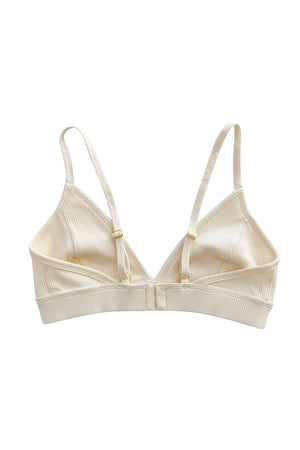 Load image into Gallery viewer, Ribbed Bralette - French Vanilla