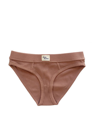 Ribbed Brief - Cameo Brown