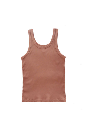 Ribbed Tank - Cameo Brown