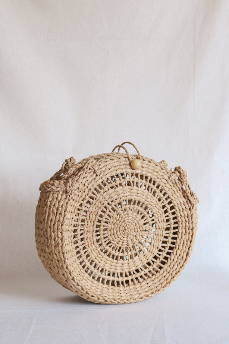 Tiki Beach Bag - Straw