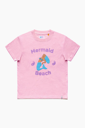 Mermaid Beach Tee - Candy Pink